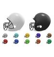 football helmets set vector image