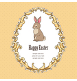 Frame bunny easter vector image vector image