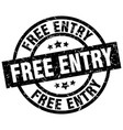 free entry round grunge black stamp vector image vector image