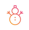 golden glitter christmas snowman with scarf icon vector image
