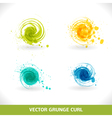 grunge curl vector image vector image