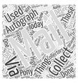 How to do Autograph Collecting Via Mail Word Cloud vector image vector image