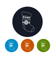 Icon of a Christmas Sock vector image vector image