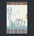 jazz festival concert poster template design with vector image