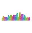 Louisville skyline - multicolor line art