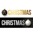 luxury trendy gold typography christmas on a vector image vector image