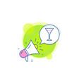 martini glass line icon wine glass sign vector image vector image