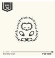 Meditative Animals series - hedgehog vector image vector image
