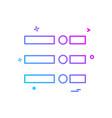menu icon design vector image