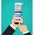 Mobile banking or shopping concept vector image vector image