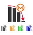 monero falling acceleration graph icon vector image vector image