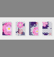 multicolor background of koi carp scales vector image vector image