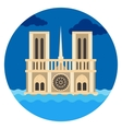 Notre Dame Cathedral flat vector image
