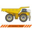 off-highway truck heavy mining truck vector image vector image