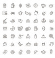 outline breakfast flat icons vector image