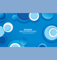 paper layer circle blue abstract background vector image vector image
