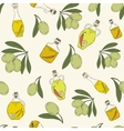 Pattern with branches of the olive tree vector image vector image