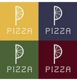 pizza monogram vector image vector image
