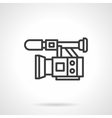 Professional video filming black line icon vector image