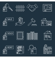 Real estate outline icons vector image vector image