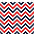 red and blue chevron retro decorative pattern vector image vector image