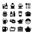 Restaurant and Cafe Food Drink Icon Set vector image vector image