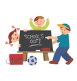 School is out vector image vector image