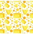 Seamless Pattern With Cheese Dairy vector image vector image