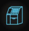 sequenator machine icon in neon line style vector image vector image