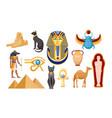 set ancient egypt religious symbols vector image