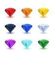 set bright shiny gemstone on white vector image