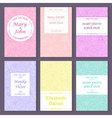 Set of greetinginvitation card templates vector image vector image