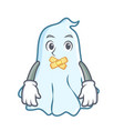 silent cute ghost character cartoon vector image vector image