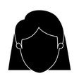 silhouette black faceless closeup front view woman vector image vector image