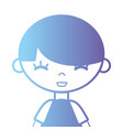 silhouette boy with t-shirt and hairstyle design vector image vector image