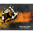 skater with grunge vector image vector image