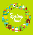 spring time flat circle vector image vector image