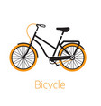 street bike bw icon or logo template vector image