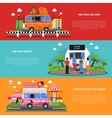 Street Food Banners Set vector image vector image