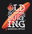 surfing surf themed t shirt print design hand vector image