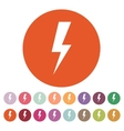 The lightning icon Power symbol Flat vector image vector image