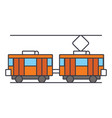 tram line icon concept tram flat sign vector image vector image
