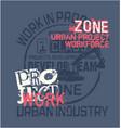 urban project work force excavator vector image vector image