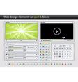 web design elements set part vector image vector image