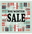 Winter sale background with black lettersgifts vector image vector image
