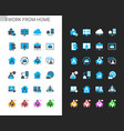 work from home icons light and dark theme vector image vector image