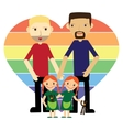 Gay family with twins flat vector image