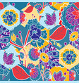 abstract seamless colorful pattern with hand drawn vector image