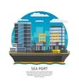 Sea Port Design vector image