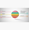 3d infographic template with embossed ring vector image vector image
